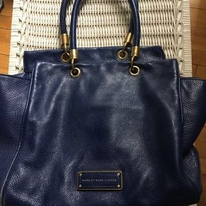Blue leather Marc By Marc Jacobs shoulder bag